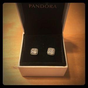 Timeless elegance PANDORA earrings